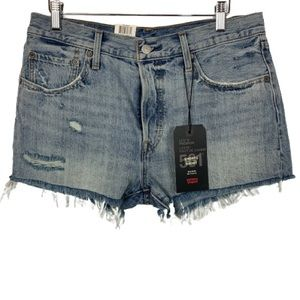 NWT Levi's 501 Mid-Rise Distressed Jean Shorts